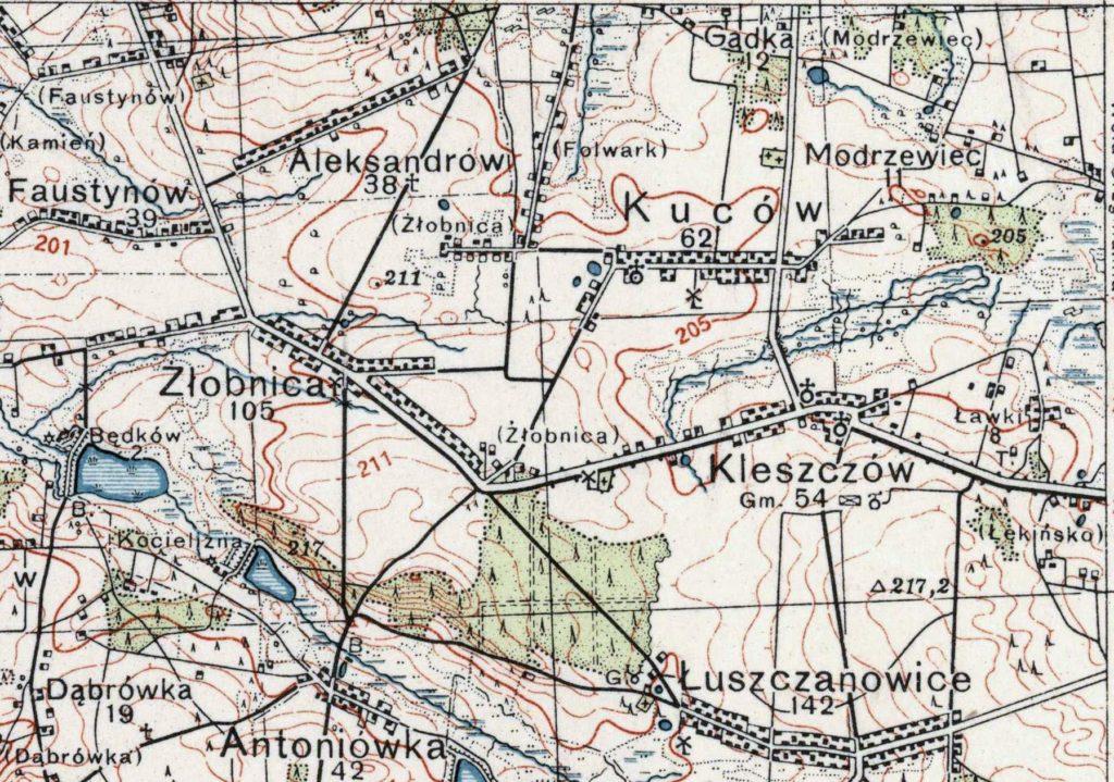 mapa kuców kleszczów 1924 1939